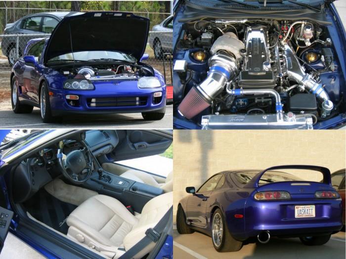 Автомобиль Toyota Supra четвертого поколения 2002 года.