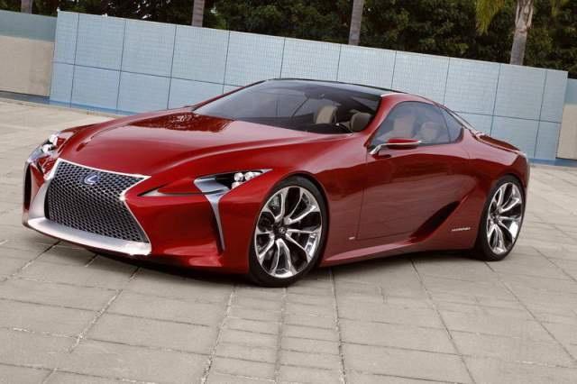 Автомобиль Lexus-LF-LC обладает фирменной решёткой
