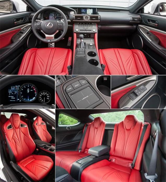 Вместительность и интерьер Lexus RC F