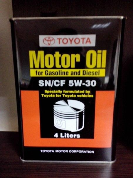 Масло Toyota SN/CF 5w30