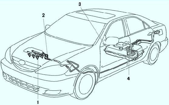 Топливная система Тойота Камри