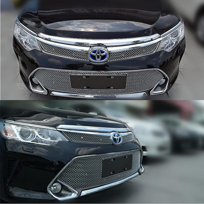 Стильная металлическая решетка Тойота Камри V55 2015