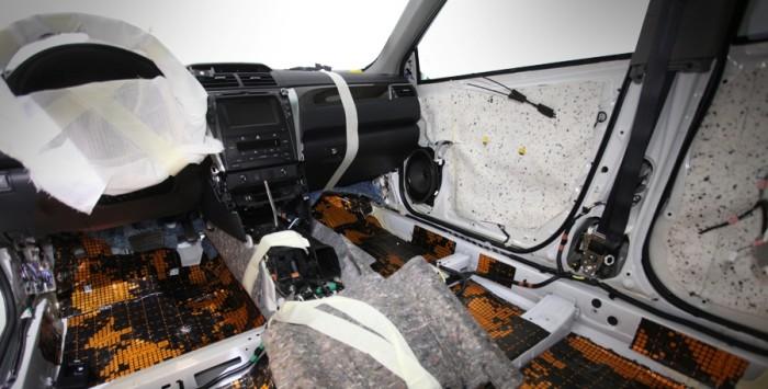 Шумоизоляция кузова Тойта Камри V55